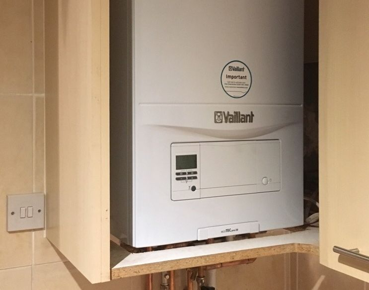 recent boiler installation by our gas engineer in stockport